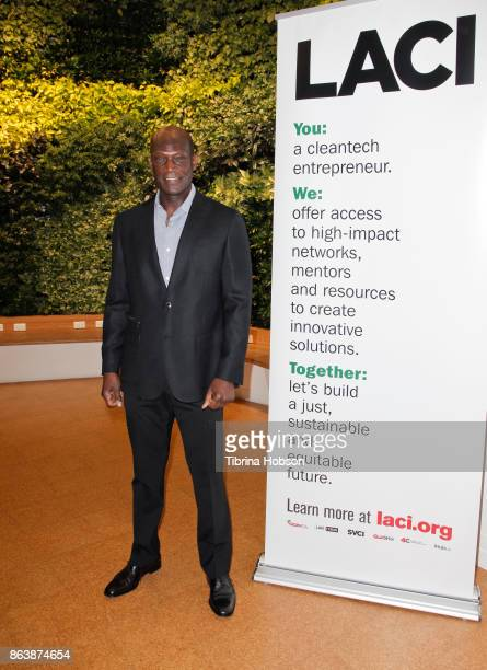 Peter Mensah attends the Los Angeles Cleantech Incubator celebration of new CEO Matt Petersen on October 19 2017 in Los Angeles California