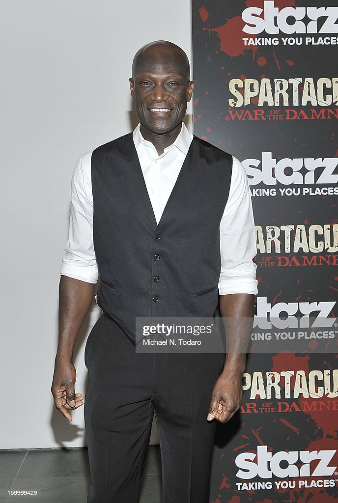 Peter Mensah attends the 'Spartacus: War Of The Damned' series finale premiere at The Museum of Modern Art on January 24, 2013 in New York City.