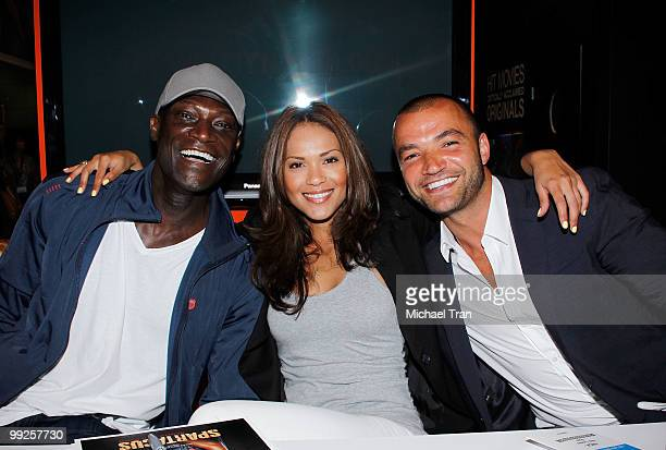 Peter Mensah LesleyAnn Brandt and Nick Tarabay attend 'The Cable Show' 2010 day 3 held at Los Angeles Convention Center on May 13 2010 in Los Angeles...