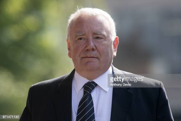 Peter Metcalf the solicitor representing South Yorkshire Police in the wake of the Hillsborough disaster attends the Hillsborough case hearing at...