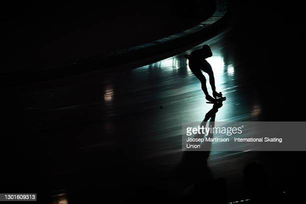 Peter Michael of New Zealand competes in the Men's 5000m during day 1 of the ISU World Speed Skating Championships at Thialf on February 11, 2021 in...