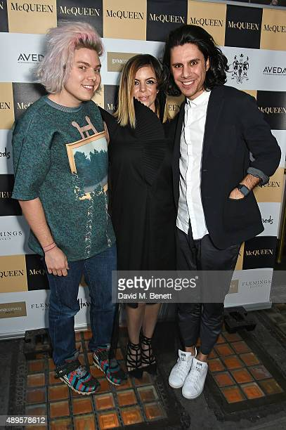 Peter Michael Wormleighton Jennifer Davies and Nabil Nayal attends the exclusive viewing of 'McQueen' hosted by Karim Al Fayed for Lonely Rock...