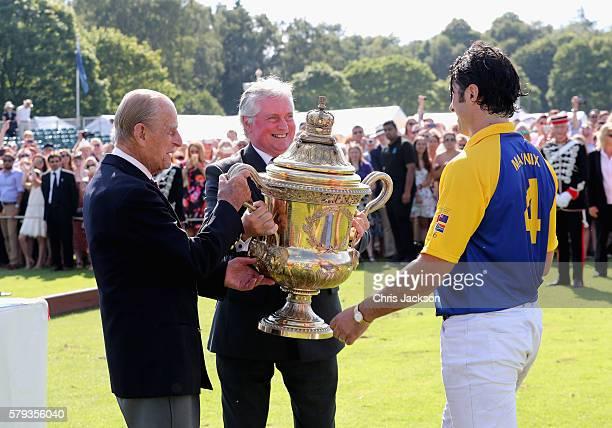 Peter Moore Global Prestige Brand Director of Royal Salute Prince Philip Duke of Edinburgh and Fred Mannix attend the Royal Salute Coronation Cup at...