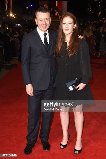 Peter Morgan and guest attend the World Premiere of season 2 of Netflix 'The Crown' at Odeon Leicester Square on November 21 2017 in London England