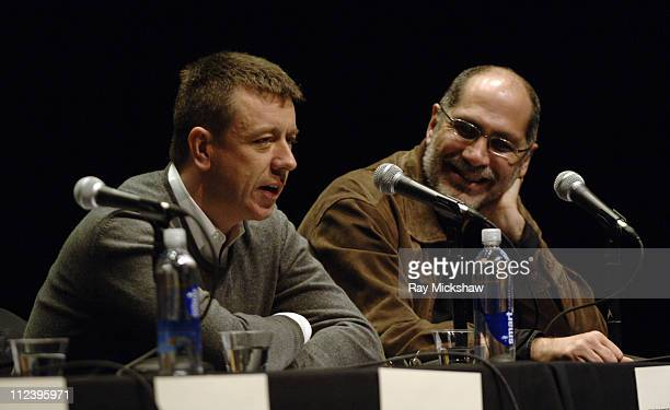 Peter Morgan and Guillermo Arriaga during 22nd Annual Santa Barbara International Film Festival Writer's Panel It Starts with the Script in Santa...
