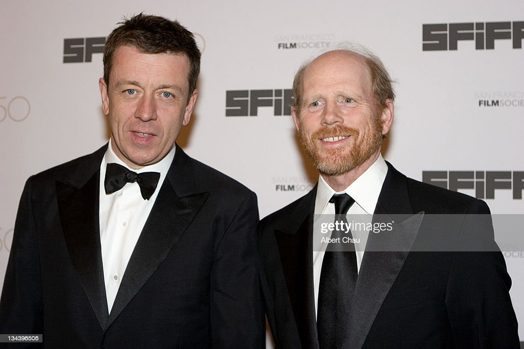 Peter Morgan and Ron Howard during 50th Annual San Francisco International Film Festival - Film Society Awards Night at Westin St. Francis Hotel in San Francisco, CA, United States.
