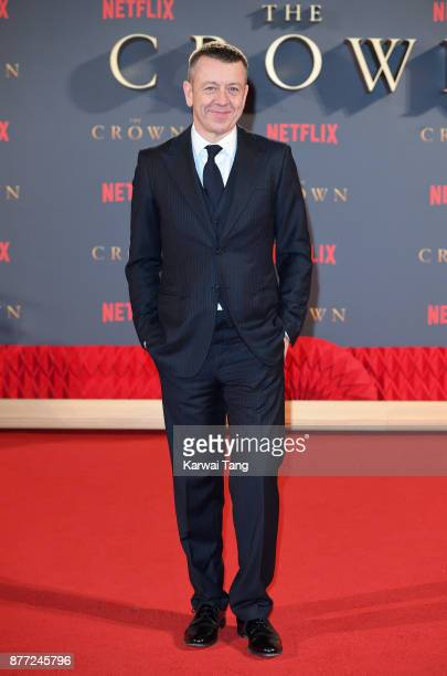 Peter Morgan attends the World Premiere of Netflix's 'The Crown' Season 2 at Odeon Leicester Square on November 21 2017 in London England