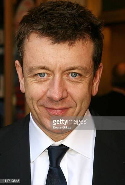 Peter Morgan playwright during 'Frost/Nixon' Opening Night Arrivals at Bernard B Jacobs Theatre in New York City New York United States