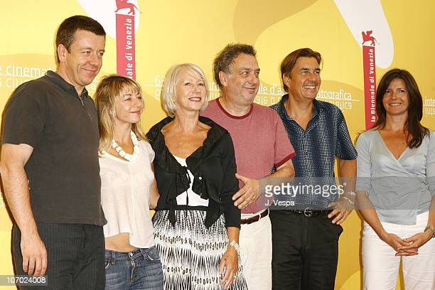 Peter Morgan writer Tracey Seaward producer Helen Mirren Stephen Frears director Andy Harries producer and Christine Langan producer