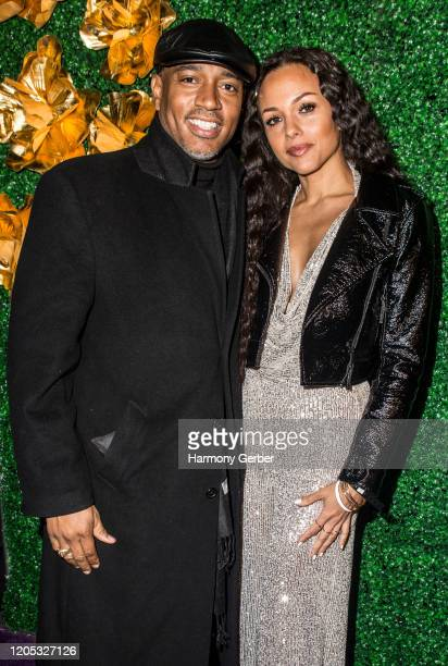 Peter Mott and Lady Ele attend the 3rd Annual Griot Gala Oscars After Party 2020 Hosted By Michael K. Williams at Ocean Prime on February 09, 2020 in...