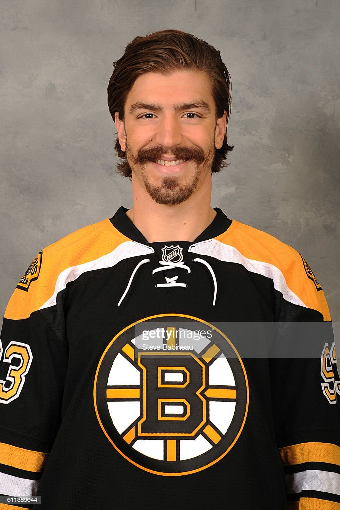 Peter Mueller  Of The Boston Bruins Poses For His Official Headshot For The