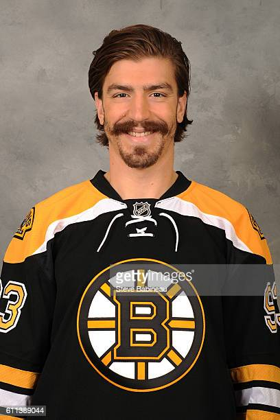 Peter Mueller of the Boston Bruins poses for his official headshot for the 20162017 season on September 24 2016 in Watertown Massachusetts