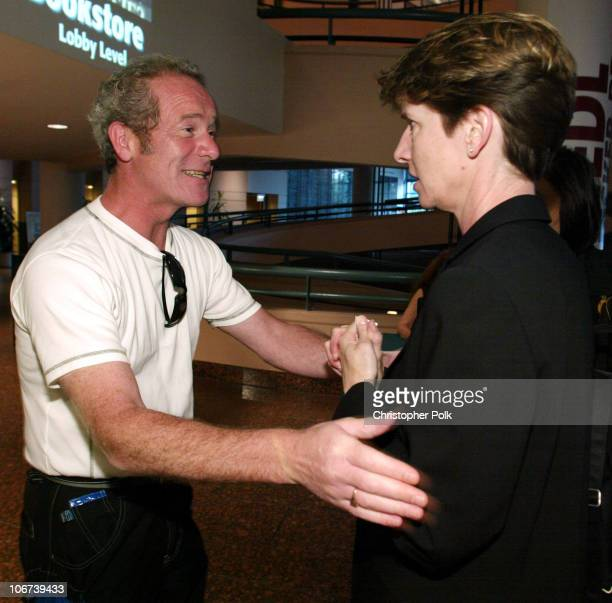 Peter Mullan and Kathy Spillar during Miramax Screening of 'The Magdalene Sisters' at Museum of Tolerence in Beverly Hills CA United States