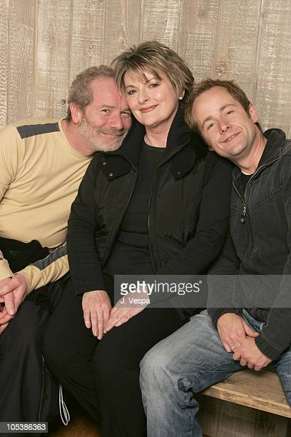 Peter Mullen Brenda Blethyn and Billy Boyd during 2005 Sundance Film Festival On A Clear Day Portraits at HP Portait Studio in Park City Utah United...