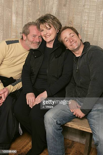 Peter Mullen Brenda Blethyn and Billy Boyd during 2005 Sundance Film Festival 'On A Clear Day' Portraits at HP Portait Studio in Park City Utah...