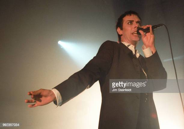 Peter Murphy of the band Bauhaus performs at the Hollywood Palladium in Los Angeles California on July 11 1998