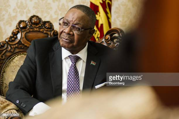 Peter Mutharika Malawi's president pauses during an interview at the presidential palace in Lilongwe Malawi on Monday June 25 2018 The year...