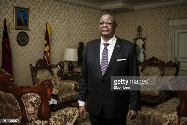 Peter Mutharika Malawi's president poses for a photograph following an interview at the presidential palace in Lilongwe Malawi on Monday June 25 2018...