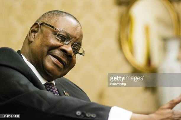 Peter Mutharika Malawi's president speaks during an interview at the presidential palace in Lilongwe Malawi on Monday June 25 2018 The year...