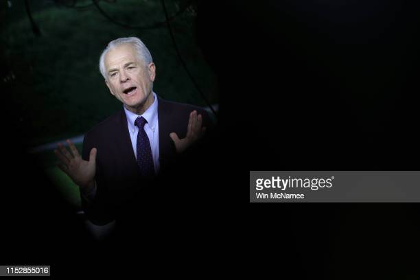 Peter Navarro Assistant to the President and Director of Trade and Manufacturing Policy answers questions during an interview at the White House May...