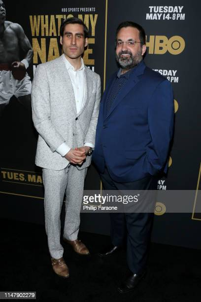 Peter Nelson and Kary Antholis attend the premiere of HBO's What's My Name Muhammad Ali at Regal Cinemas LA LIVE Stadium 14 on May 08 2019 in Los...