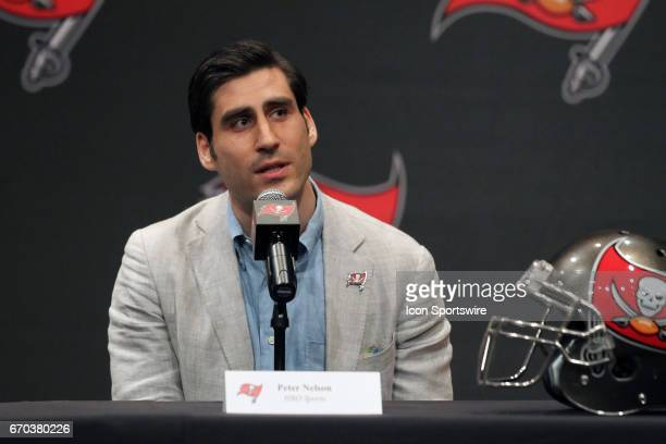 Peter Nelson of HBO Sports speaks to the media during the HBO's Hard Knocks Tampa Bay Buccaneers Press Conference on April 19 2017 at One Buccaneer...