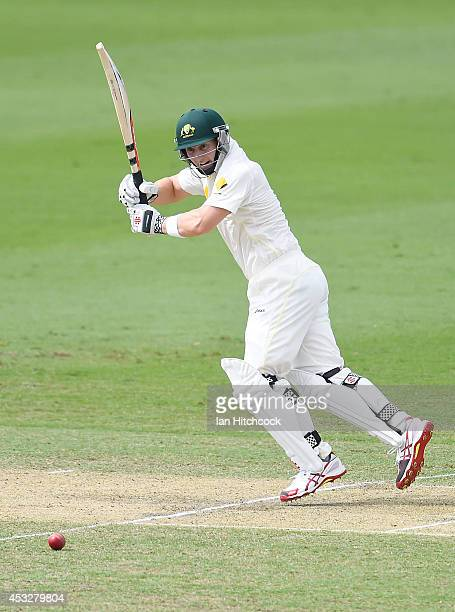Peter Nevill of Australia 'A' bats during the match between Australia 'A' and South Africa 'A' at Tony Ireland Stadium on August 7 2014 in Townsville...