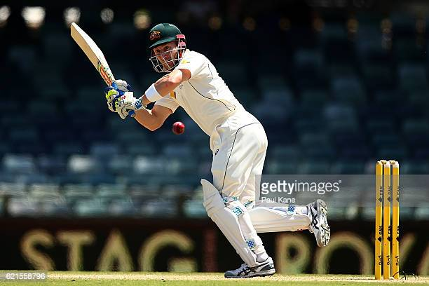 Peter Nevill of Australia bats during day five of the First Test match between Australia and South Africa at the WACA on November 7 2016 in Perth...