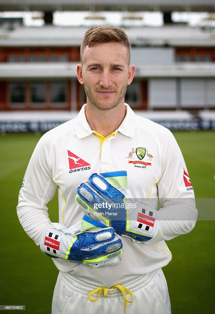 Peter Nevill of Australia poses during a Portrait Session at Lord's Cricket Ground on July 15, 2015 in London, England.