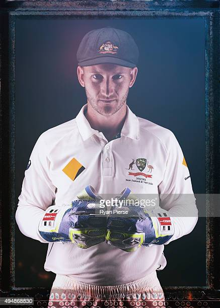 Peter Nevill of Australia poses during an Australian Test Cricket Portrait Session on October 19 2015 in Sydney Australia