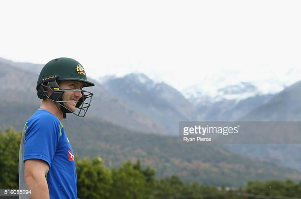 Peter Nevill of Australia trains during an Australian nets session ahead of the ICC 2016 Twenty20 World Cup on March 17 2016 in Dharamsala India