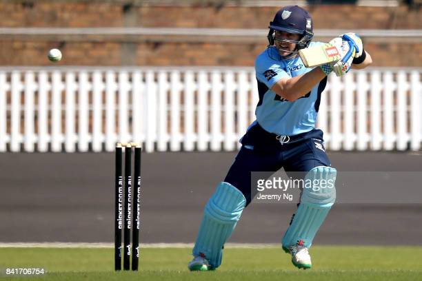Peter Nevill of Cricket NSW plays a cover drive during the Cricket NSW Intra Squad Match at Hurstville Oval on September 2, 2017 in Sydney, Australia.