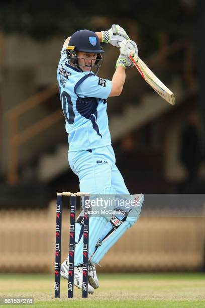 Peter Nevill of NSW bats during the JLT One Day Cup match between New South Wales and Victoria at North Sydney Oval on October 15 2017 in Sydney...