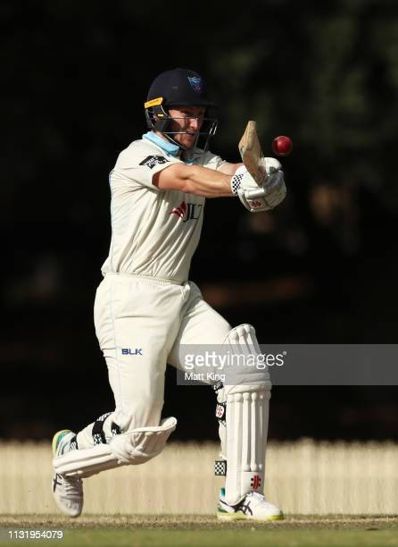 Peter Nevill of the Blues bats during day three of the Sheffield Shield match between New South Wales and Western Australia at Bankstown Oval on...