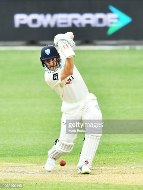 Peter Nevill of the Blues bats during the Sheffield Shield match between South Australia and New South Wales at Adelaide Oval on October 19 2018 in...