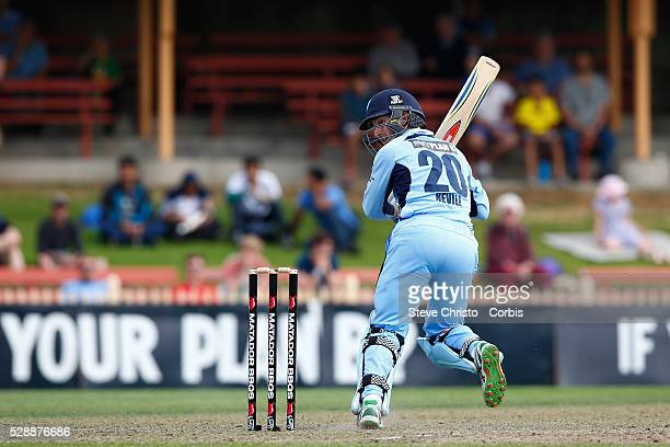Peter Nevill of the Blues batting against the Bushrangers during the Matador BBQ's OneDay Cup between New South Wales Blues and Victorian Bushrangers...