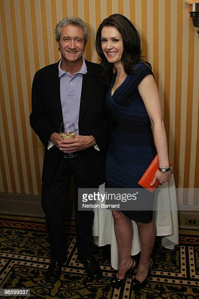 Peter Newcomb and Dagen McDowell attend an Earth Day Eve cocktail party at the Algonquin Hotel on April 21 2010 in New York City