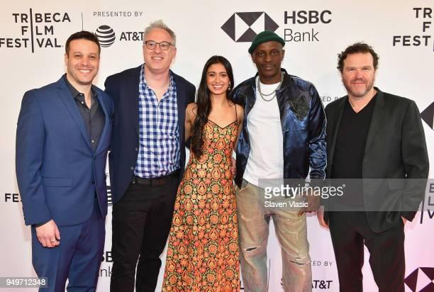 Peter Nickowitz Randi Manis Shunori Ramanathan Souleymane Sy Savane and Doug Hodge attend a screening of Jonathan during the 2018 Tribeca Film...