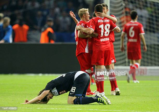 Peter Niemeyer of Berlin shows his frustration after loosing the first Bundesliga Relegation match between Hertha BSC Berlin and Fortuna Duesseldorf...