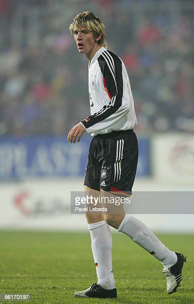 Peter Niemeyer of Germany during the mens U21 European Championship Qualifying eighth final match between Czech Republic and Germany on November 11...