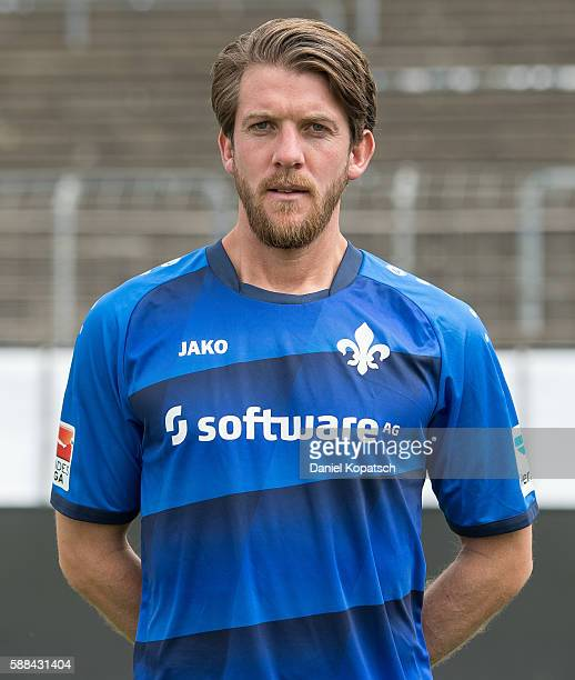 Peter Niemeyer poses during the Darmstadt 98 Team Presentation on August 11 2016 in Darmstadt Germany