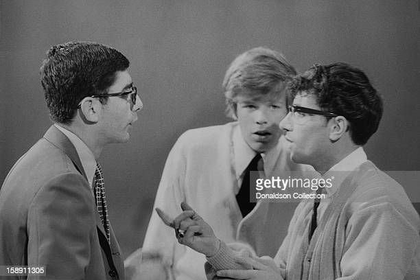 Peter Noone and Freddie Garrity perform on the NBC TV music show 'Hullabaloo' in May 1965 in New York City New York
