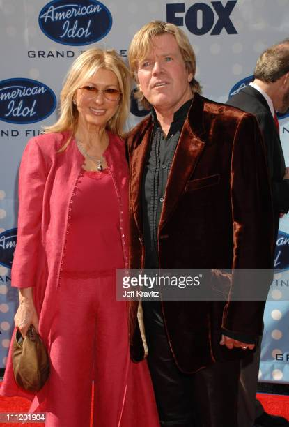 Peter Noone and guest during American Idol Season 6 Finale Arrivals at Kodak Theatre in Hollywood California United States