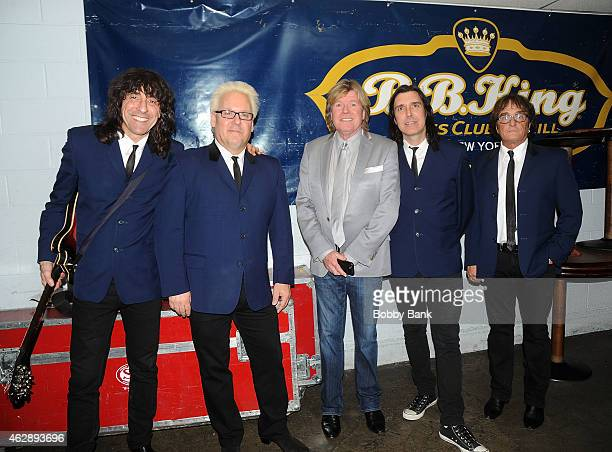 Peter Noone and Herman's Hermits backstage at BB King Blues Club Grill on February 6 2015 in New York City