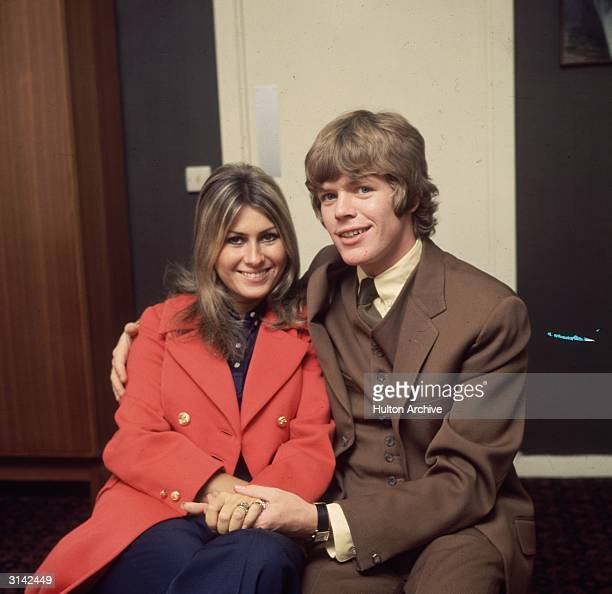 Peter Noone lead singer of the British pop group Herman's Hermits with his French girlfriend Mireille Strasser who became his wife later the same year