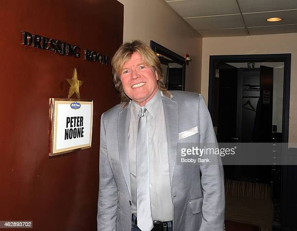 Peter Noone of Herman's Hermits backstage at BB King Blues Club Grill on February 6 2015 in New York City