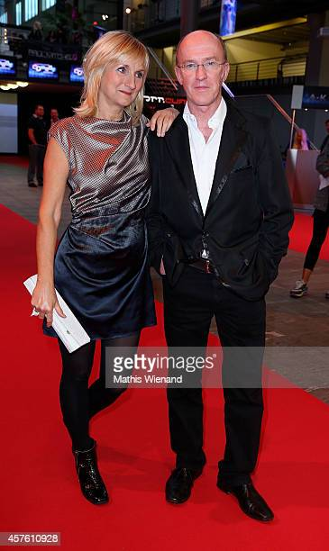 Peter Nottmeier and Petra Nadolny attend the 18th Annual German Comedy Awards at Coloneum on October 21 2014 in Cologne Germany The show will be...