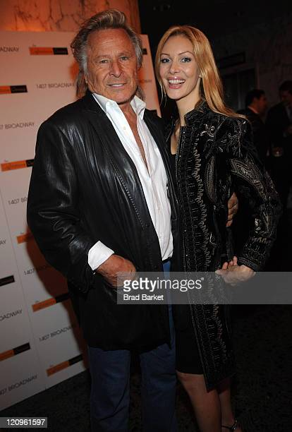 Peter Nygard and Eha attend 1407 Broadway Celebrates 58 Successful Years In The Fashion District at 1407 Broadway 38th Street on September 10 2008 in...