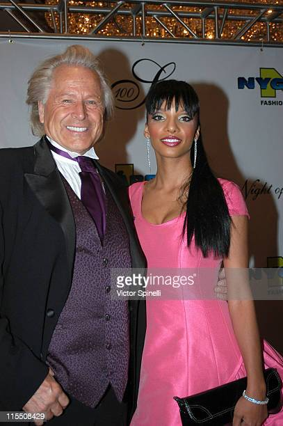 Peter Nygard and Eve during 17th Annual Night of 100 Stars Gala Arrivals at Beverly Hills Hotel in Beverly Hills California United States