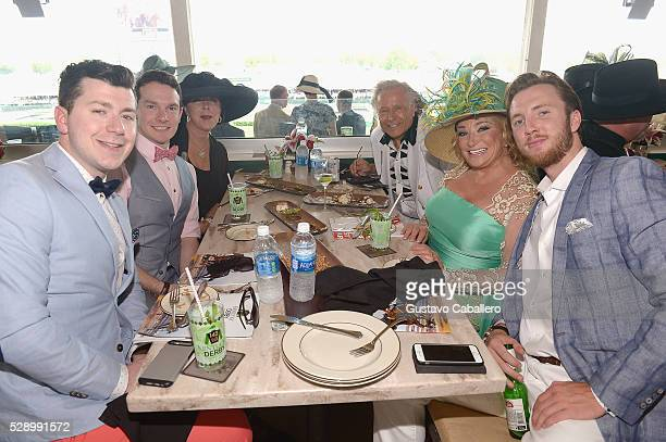 Peter Nygard Tanya Tucker and guests are seen around the 142nd Kentucky Derby at Churchill Downs on May 7 2016 in Louisville Kentucky